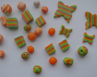 set of 20 pieces of polymer clay