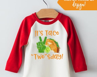 taco twosday shirt- Orange and Green - Second Birthday Taco Twosday -  2nd Second Birthday - Instant Download Iron On Designs