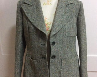 1970's Green Tweed Jacket by Reldan