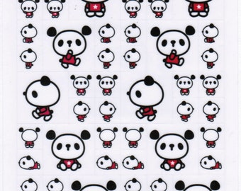 Kawaii Panda Sticker Sheet - B