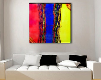 Resin Art | Abstract Painting | Large Wall Art | Original Canvas Art  | Contemporary Decor | Free US shipping | Resin Artist