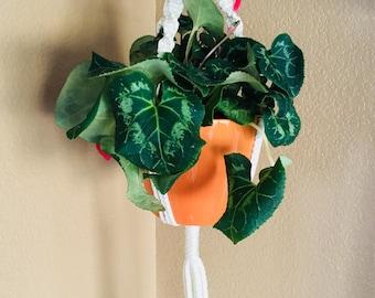 Macrame Plant Hanger with Pot // Plant Hanger
