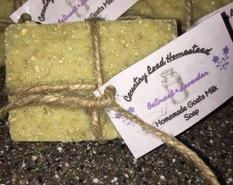 Handmade Goats Milk Soap-Oatmeal & Lavender