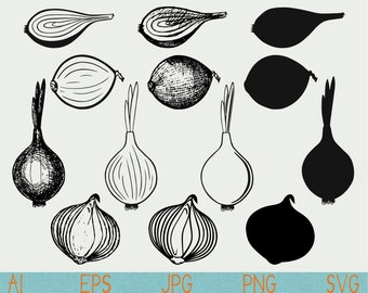 onion svg/Scallions/silhouette/png/cut file/digital download/silhouette cameo/cricut/vector/clipart/stencil/logo/doodle/sketch/hand drawn