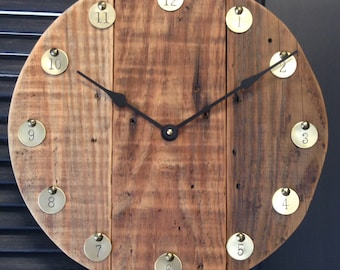 Reclaimed Barn Wood clock #12