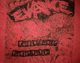 VINTAGE EVANCE JAPANESE punk rock hardcore burning spirit tour concert t shirt