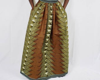 Alison tribal print African Wax Maxi Skirt,  Ethnic print skirt, Long African skirt – Made to Order.