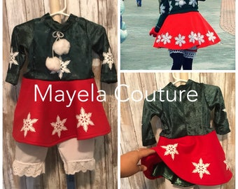 Inspired by Snowflake Christmas Minnie dress/ Snowflake Minnie dress