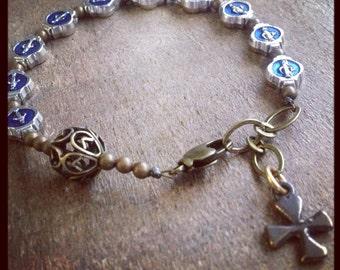 MIRACULOUS MARY MEDAL Chaplet Bracelet
