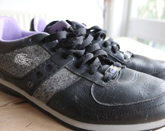 Lacoste Black & Purple Trainers
