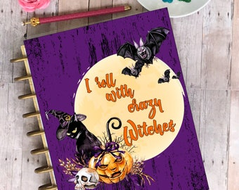 Planner Cover/ personal planner/ dashboard/Rolling with witches