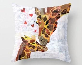 Giraffe gift, Christmas gift ideas, Home decor, Giraffe Pillow, baby decor, nursery decor, Home accents, Home accesories Indoor OR Outdoor
