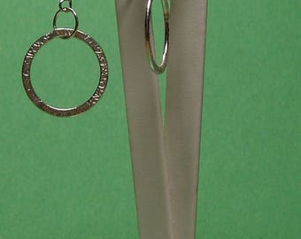 Solid .925 Solid Sterling Hammered Silver Link Earrings