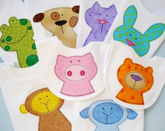 Applique Sewing Pattern - Eight Animal Applique Designs - PDF ePattern