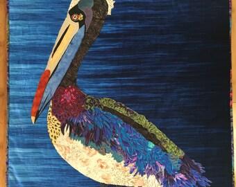 pelican art quilt pattern - pelican quilt