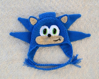 Sonic The Hedgehog Crochet Hat