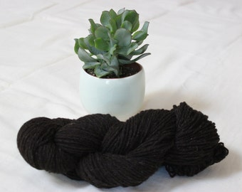 Yarn - pure wool black of Velay - sports-type