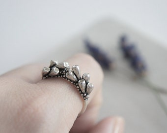Lavender branches silver ring / AMARANTA Collection