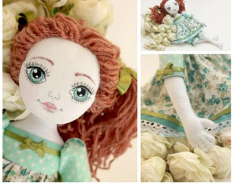 Doll Making Sewing e-Pattern & Tutorial-Barefooted Cloth Doll  PDF