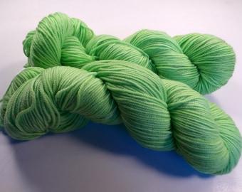 Spring Green on Octosport  SW Merino Hand dyed Sport weight  yarn