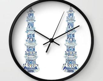 CHINOISERIE PAGODAS CLOCK