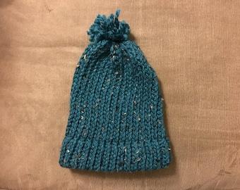 Hand Knit Hat (Size Small/Medium)