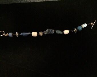Lapis and gemstone bracelet