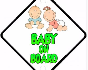 Car On Board sign - Baby on Board Aluminium sign