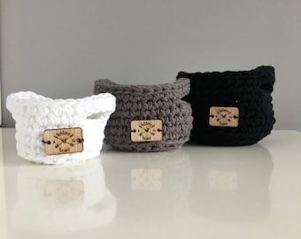 Crochet Basket, Storage basket, Toy basket, Basket with Handles, Tote, Small Basket, Handmade Basket, Home Decor, Crochet bin, Large Basket