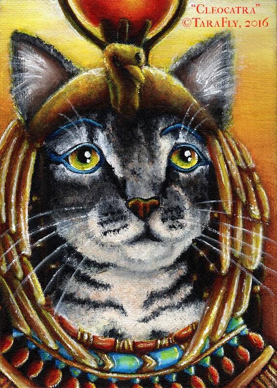 Cleopatra Cat 5x7 Fine Art Print
