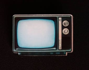 pin brooch badge 80-s 90-s Vintage Old Fashion TV
