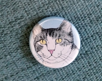 Cat pin -  featuring Spageti, the famous Israeli cat from Ha'aretz Newspaper Comics
