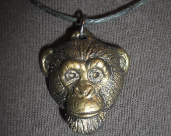 Small Chimpanzee Pendant / Necklace