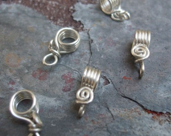 Handmade Sterling Silver Pendant Bails II, PurpleLily Designs, SRA