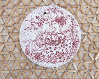 Bjørn Wiinblad May Harmoni Ceramic Plaque
