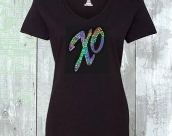 XO Hugs & Kisses Love Sequins Shirt