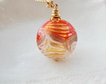 Murano Pavone Glass Necklace