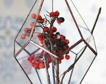 Hanging Terrarium / Geometric Terrarium / Teardrop / Handmade Glass Terrarium / Modern Planter for Indoor Gardening / Glass Planter