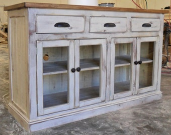 Media Console, Entertainment Center, TV Stand, Console Cabinet, Reclaimed Wood, Vintage,  Rustic, Shabby Chic, Salvaged, VMW173/VMW174