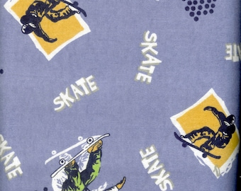 Skate Boarding cozy cotton FLANNEL, sold by the yard  #236