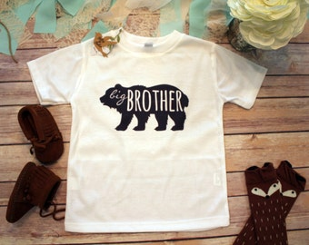 Big Brother Shirt, Brother Bear Shirt, Hipster Baby Clothes, Boho Baby Clothes, Big Brother Little, Baby Shower Gift, Bodysuit, Rustic Baby