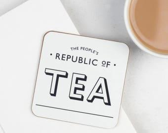Tea Lovers Gift - Tea Coaster  - The People's Republic Of Tea Coaster - Coasters