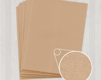 50 Sheets of Text Paper - Light Brown and Gold - DIY Invitations - Paper for Weddings & Other Events