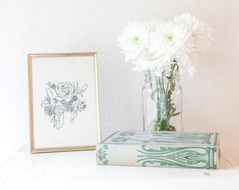 Rose Floral Illustration // Rose Botanical Print // Rose Drawing Vintage Art Print // Floral // Poppi Paper Co