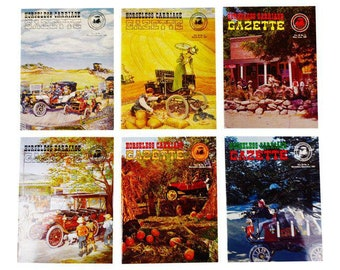Horseless Carriage Gazette Magazines 1967 Full Year Antique Automobiles, Cars - Group of 6