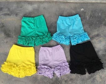 Icing Ruffle Shorts Blank Wholesale IN STOCK Ruffle Shorts Summer Shorts Girl's Shorts Flutter Top Ruffle Tops Icing Ruffle Leggings