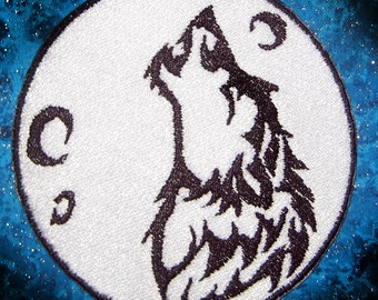 Howling Wolf Moon Patch  Iron on Patch