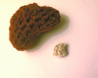 Kidney Crochet Plush with Kidney Stone