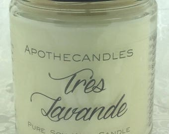 Tres Lavande Pure Soy Wax Candle
