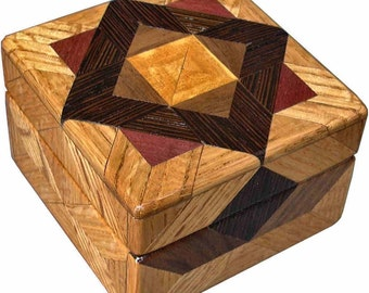 Oak Tiny Square Box
